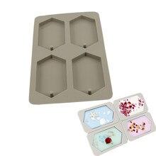 bricolaje hecho en casa molde para magdalenas de chocolate 4 agujeros de silicona antiadherente Moldes de jab/ón molde para hornear cubitos de hielo redondo de grado alimenticio