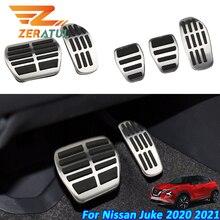 Zeratul Auto Edelstahl Auto Pedale für Nissan Juke 2020 2021 AT MT Brems Gas Cluth Pedal Schutz Abdeckung Zubehör