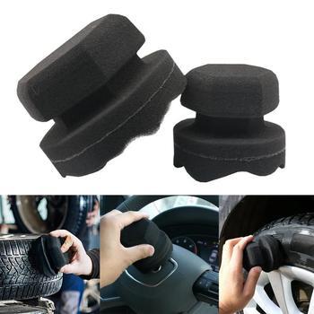 8 11 Cm ułatwia szczegóły typ fali bandaż narzędzia sześciokątne Grip aplikator ręcznie opon wosk gąbki gąbki szczotki tanie i dobre opinie JOSHNESE CN (pochodzenie) 11cm sponge 0 03kg car detailing cleaning 0 01cm Car waxing sponge 8 (mm) tire leather 1* car waxing sponge