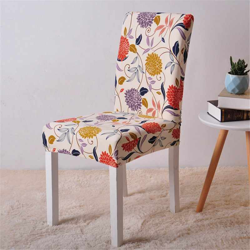Floral Printing Stretch Chair Cover For Dining Room Matching Pattern With Sofa Cover Restaurant Wedding Chair Cover Stretch Dining Chair Covers Dining Chair Coverchair Cover Aliexpress