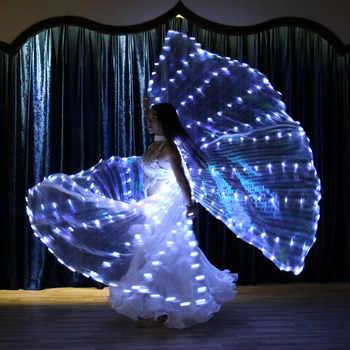 Womens Belly Dance Twinkling White Lights LED Wings Fairy Glowing Indian Dancing Accessories Belly dance light show Glittering - DISCOUNT ITEM  21% OFF All Category