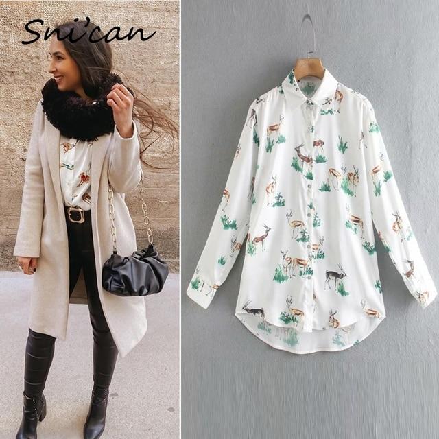 Blusa de satén con estampado de cebra para mujer, camisa de manga larga con estampado de cebra para oficina, Estilo vintage, 2020 6