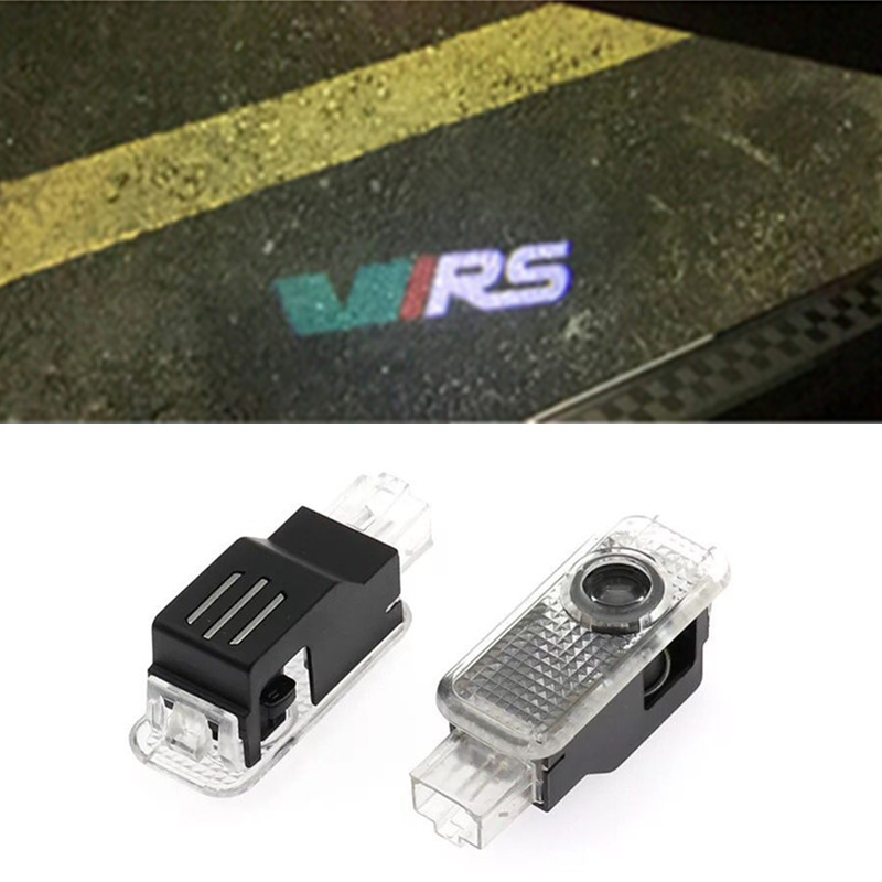 2x Car Led Logo/Emblem Laser Lamp LED Car Door Step Ghost Shadow Welcome Projector For Skoda Superb Old Octavia Febia Roomster