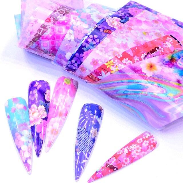 Купить наклейки для ногтей morixi 10 шт фольга с горячей передачей картинки цена