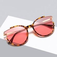 лучшая цена Fashion Sexy Ladies Cat Eye Sunglasses Women Brand Designer Vintage Mirror Sun Glasses For Female oculos de sol feminino