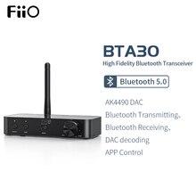 Fiio BTA30 Hifi Draadloze Bluetooth 5.0 Ldac Lange Bereik 30M Zender Ontvanger Voor Pc/Tv/Speaker/hoofdtelefoon