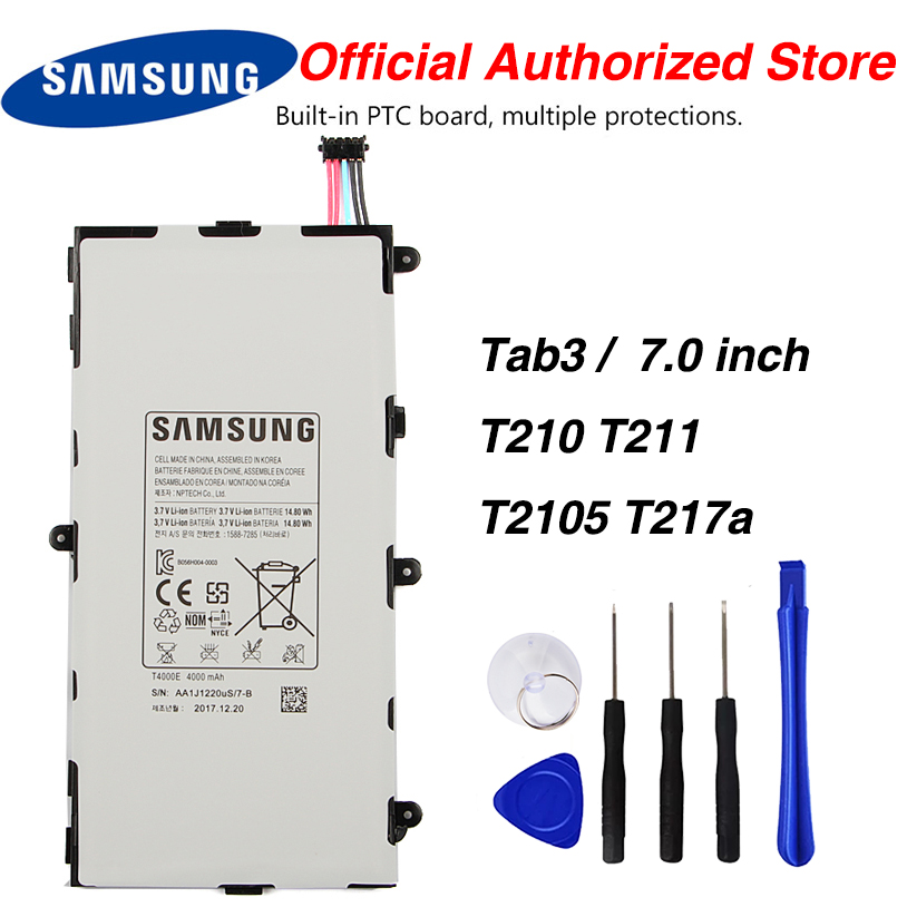 Samsung <font><b>T4000E</b></font> Tablet Battery For Samsung GALAXY Tab3 7.0 T210 T211 T2105 T217a 4000mAh image