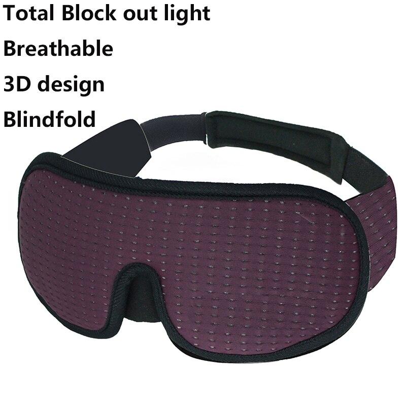 3D Блокировка светильник маска на глаза для сна маска для сна Мягкие путешествия теневая чехол отдых расслабиться спать на глаза для сна мас...