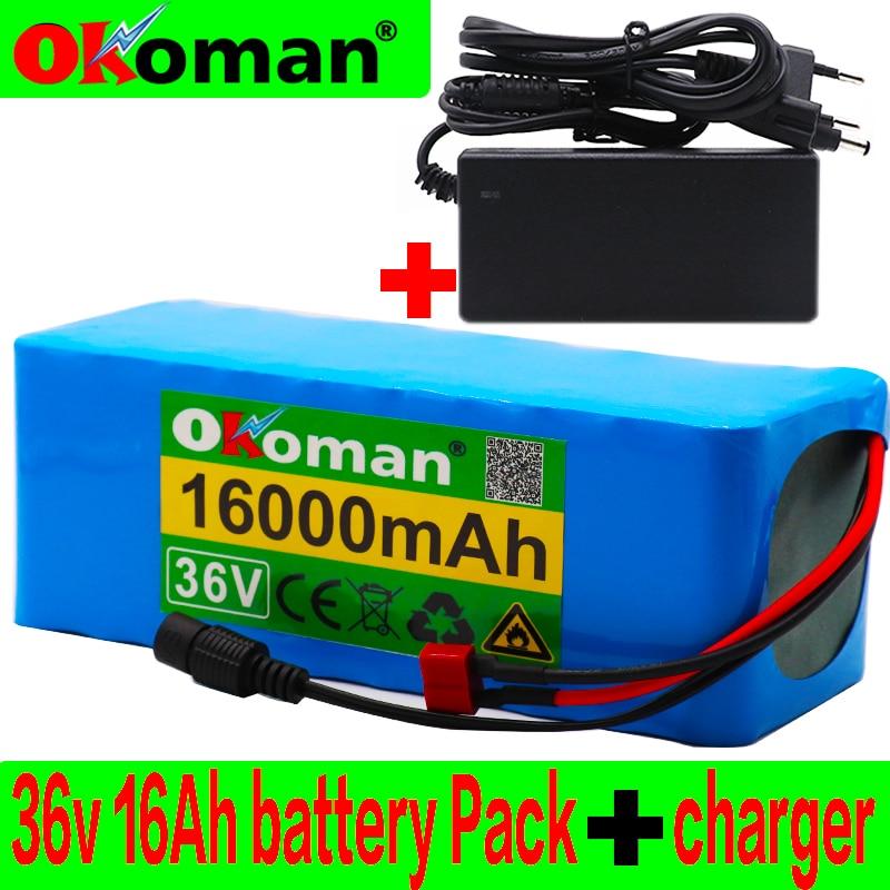 36 v 16ah bateria elétrica da bicicleta construída em 20a bms bateria de lítio 36 volts com 2a carga ebike bateria + carregador