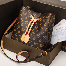 Fashion Bucket Shoulder Bag Women Drawstring Crossbody Female Messenger Bags Ladies Synthetic Leather Handbag Sac