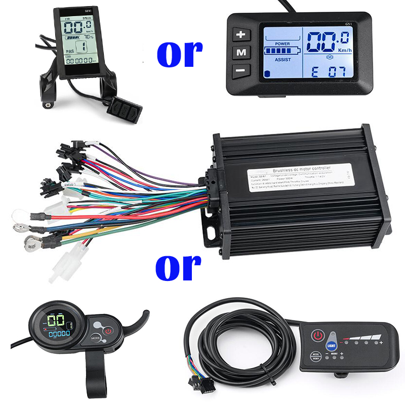 Electric Bike Display  24V/36V/48V 500W E Scooter Brushless Controller With Speed Meter Display