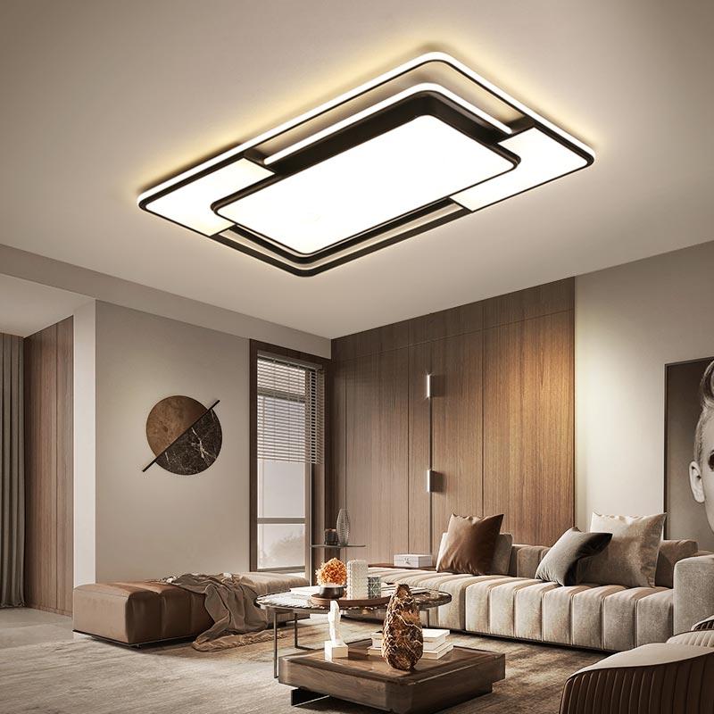 Black Color Modern Led Ceiling Lights For Living Room Lights Bedroom Study Ceiling Light Led Techo Ceiling Lamp Light Fixtures