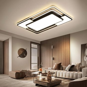 Black color modern led ceiling lights for living room lights bedroom study ceiling light led techo Ceiling Lamp light fixtures black white gray minimalism modern led ceiling lights for living room bed room lamparas de techo led ceiling lamp light fixtures