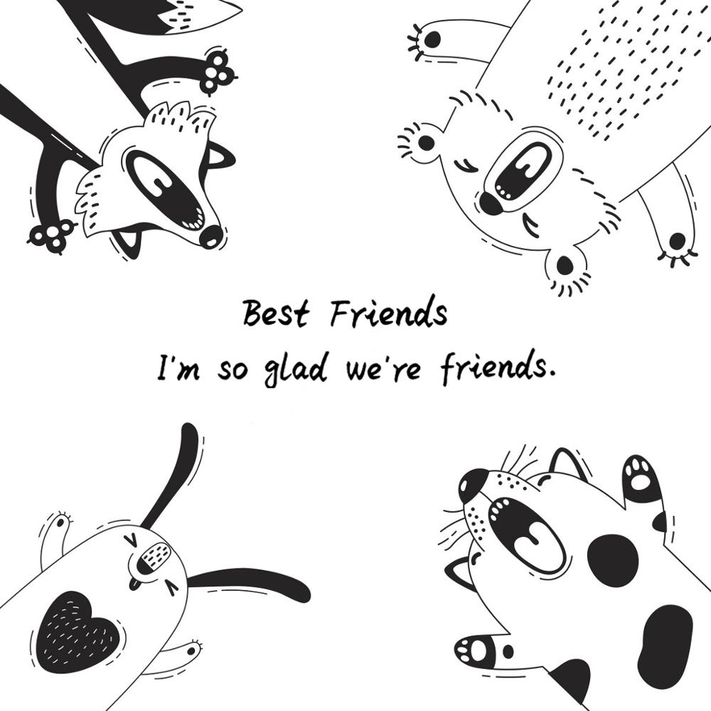 AZSG Cute Dogs Best friend Clear Stamps For DIY Scrapbooking Decorative Card making Crafts Fun Decoration Supplies 13*13cm