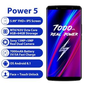 "Image 2 - Leagoo Power 5 Smartphone 5.99 ""Fhd + 18:9 Ram 6 Gb Rom 64 Gb Android 8.1 MT6763 Octa Core 7000 Mah Dual Achter Cams 4G Mobiele Telefoon"