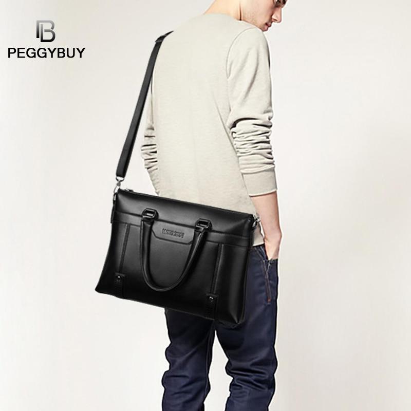 Famous Brand Men Briefcase PU Leather Laptop Briefcases Male Bag Business Shoulder Bags Laptop Bag Travel Leather Handbag