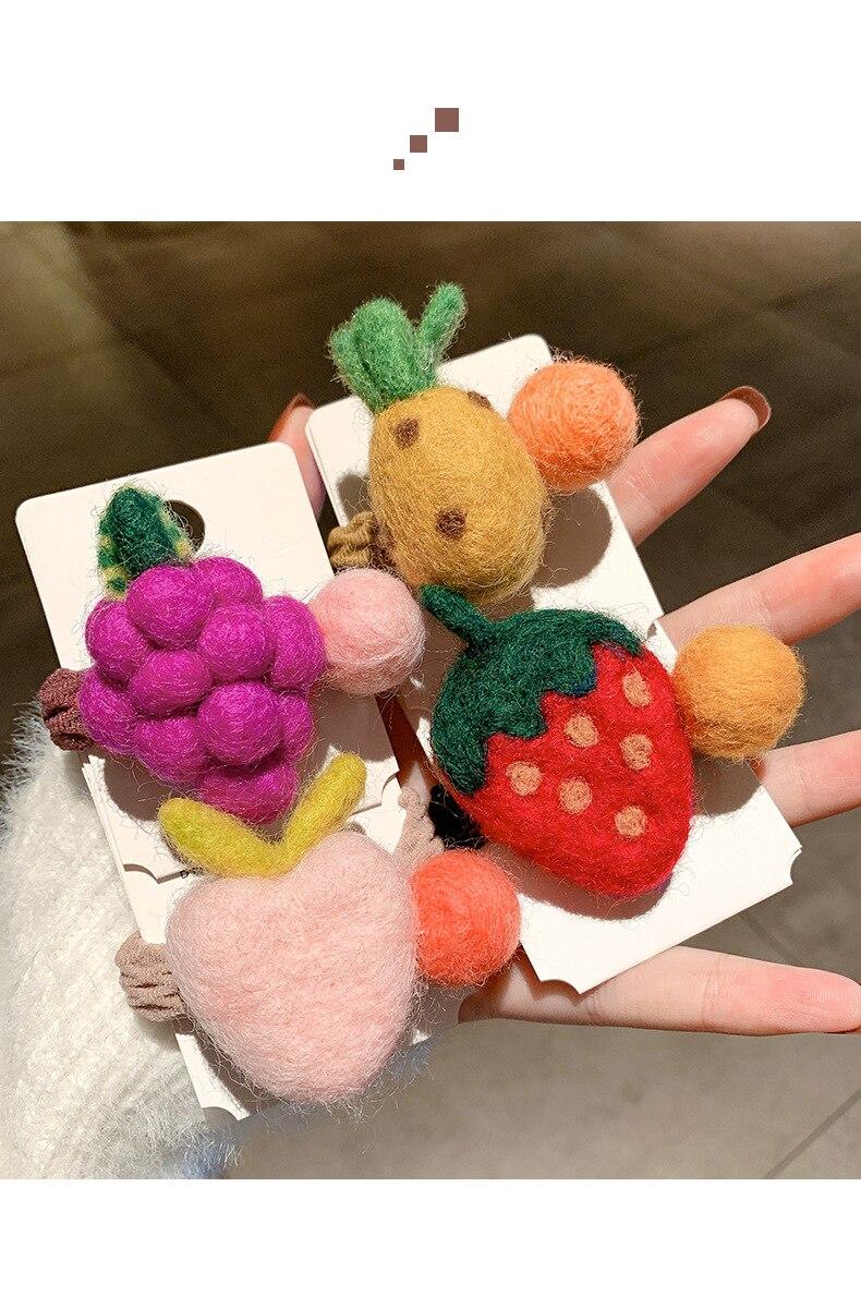 de lã dos desenhos animados frutas faixa