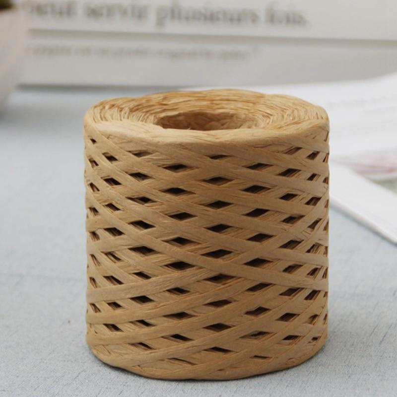 Веревка из натуральной рафии для упаковки подарков, 200 м