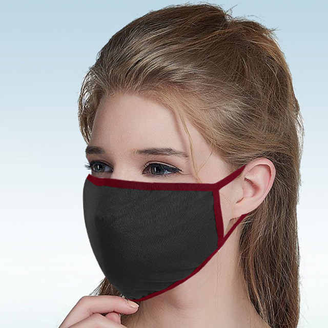 5 pcs Cotton Black Mask mouth face Mask Anti PM2.5 dust Anti-Haze Windproof Mouth Mask korean Mask Fabric Face Mask In stock 1