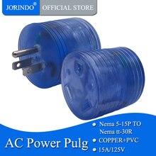 JORINDO 5-15P до TT-30R 15 до 50 amp Rv Электрический адаптер питания стандартный 15 Amp Male(5-15 p) до 30 AMP Female(Tt-30r