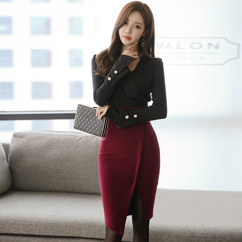 2018 New Style Set Business Slim Fit Winter New Style Base Sheath