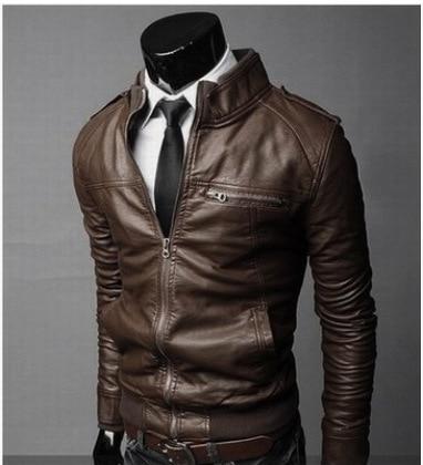 2019 Autumn New Style Korean-style Slim Fit MEN'S Leather Jacket Men'S Wear Men Locomotive Leather Coat