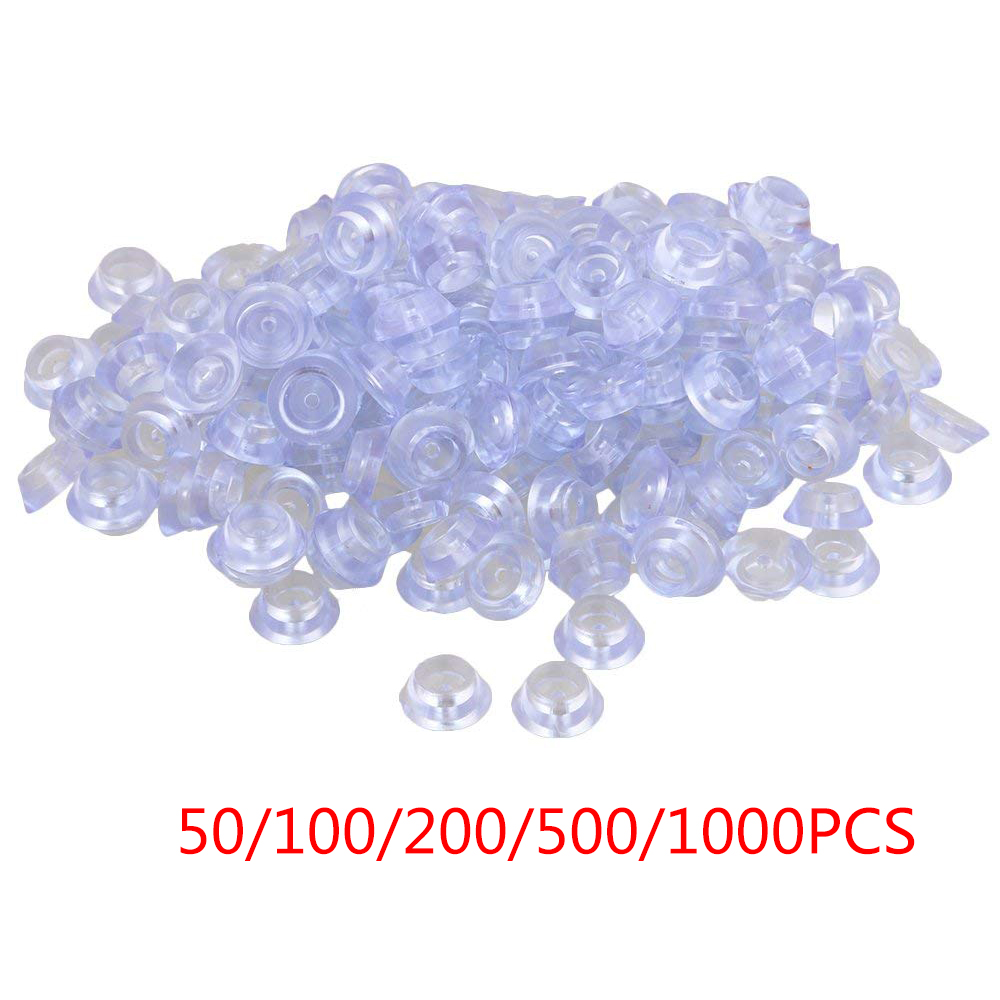 50/100/200/500/1000PCS Transparent Silicone 20x8x12mm  Round Soft Anti-slip Foot Pad For Furniture Feet Chair Cup Table Cabinet