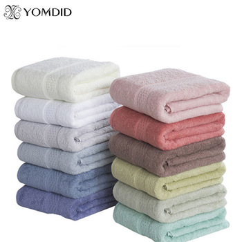 100% Cotton Solid Bath Towel Beach Towel For Adults Fast Drying Soft 17 Colors Thick High Absorbent Antibacterial 1