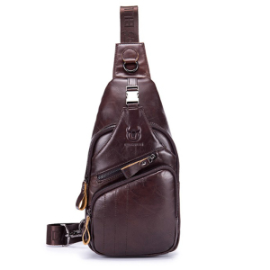 Fashion brand man's messenger bag Men shoulder Genuine leather Chest Bags Crossbody business Messenger bags Male Handbag