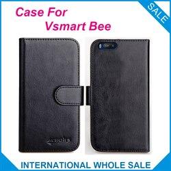 На Алиэкспресс купить чехол для смартфона vsmart bee case 6 colors flip slots leather wallet cases for vsmart bee cover slots phone bag credit card