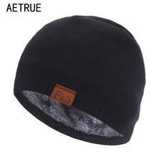 Brand Skullies Beanies Men Knitted Hat Winter Hats For Men Women Cap Winter Beanie Hat Gorro Thick Warm Bonnet Men's Winter Cap
