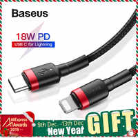 Baseus USB C a per I Fulmini Cavo di Ricarica per il iPhone XR 11 Pro Max 8 Più di 18W di Ricarica Veloce cavo USB PD Caricatore del Cavo di Legare