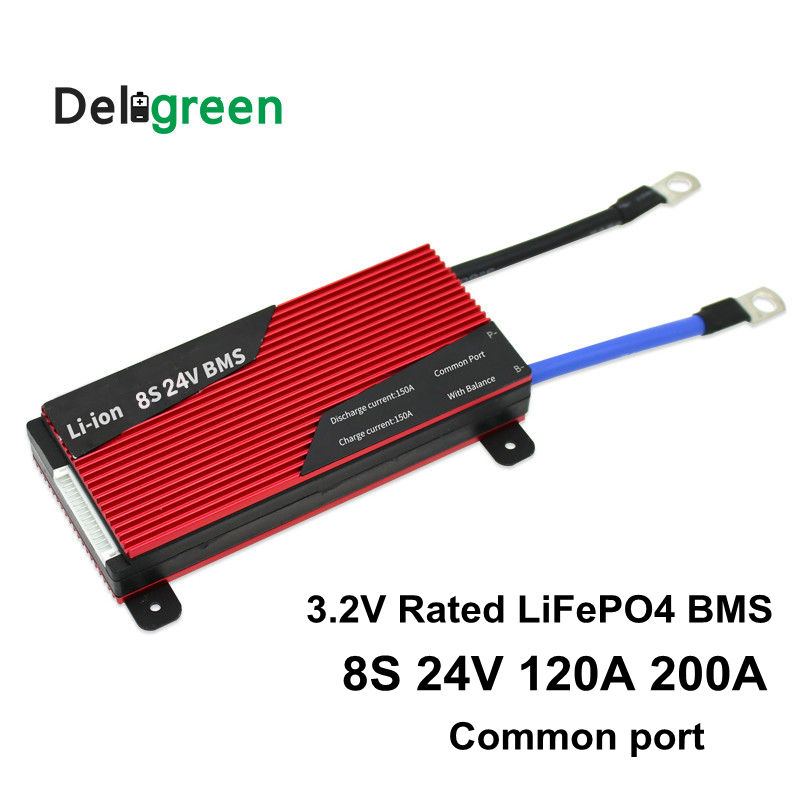 Deligreen 8S 120A 150A 200A 250A 24V PCM/PCB/BMS For 3.2V LiFePO4 Battery Pack 18650 Lithion Li-ion With Balance Function