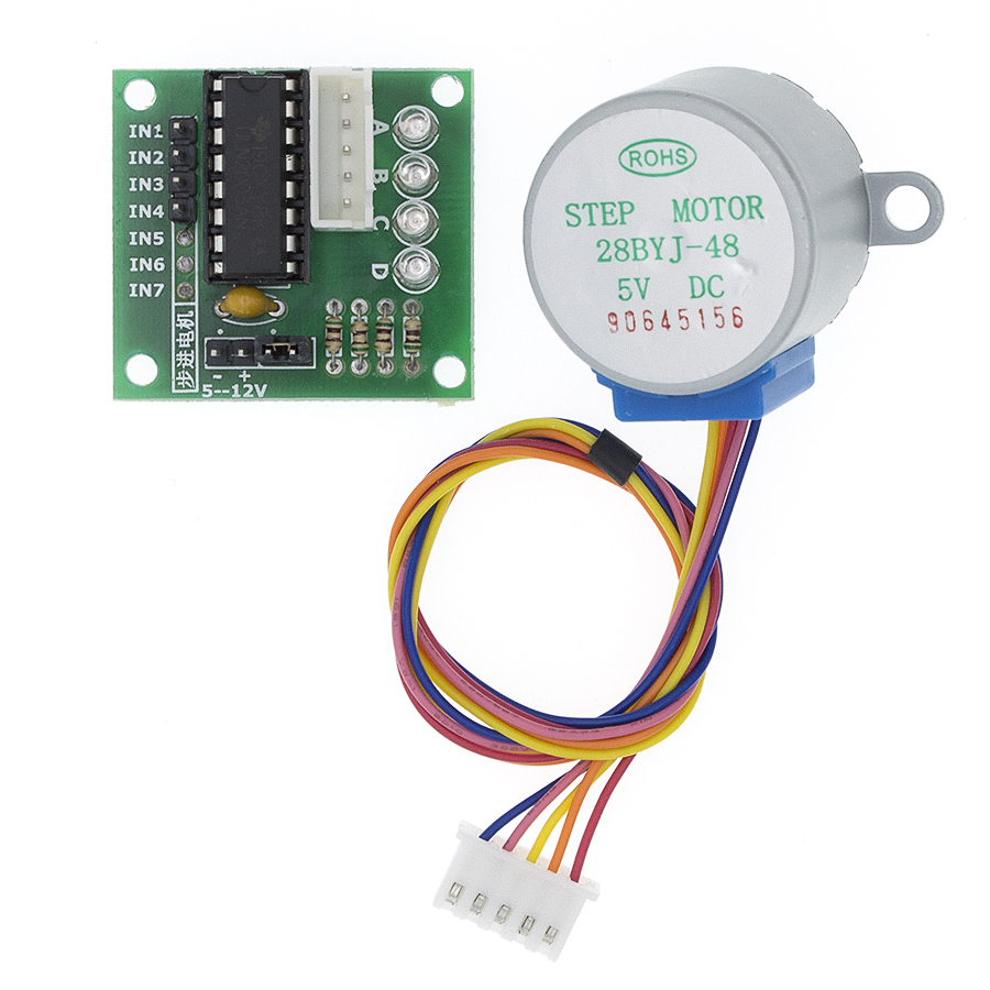 5V 4-Phase 28YBJ-48 DC Gear Step Stepper Motor+ULN2003 Driver Board ULN2003  PIC MCU DIY