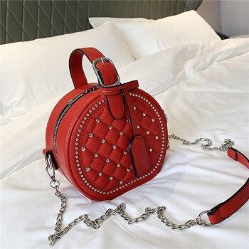 Crossbody Designer Lingge Rivet Small Round Bag