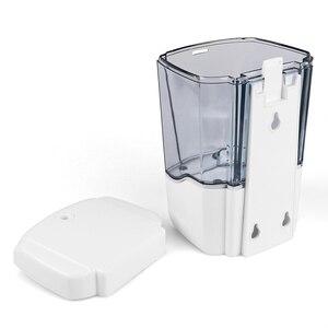 Image 4 - Dispensador automático de sabonete líquido com capacidade de 700 ml, suporte para parede, libera o detergente sem contato manual, para banheiro e cozinha