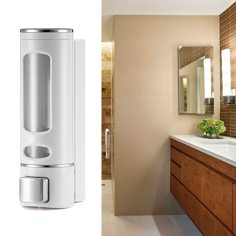 2020 NEW Wall Mounted Soap Dispenser Bathroom Sanitizer Shampoo Shower Gel Container Bottle Lots In Stock Order Fast Delivery