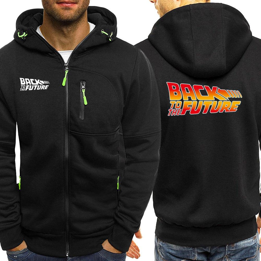 Back To The Future Zipper Jacket Men Winter Autumn Hot Sale Mens Hoodies Fashion Streetwear Casual Coat Male Hoodie Sweatshirt