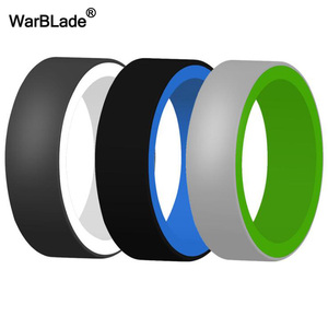 Image 4 - 3pc/set Food Grade FDA Silicone Rings Men Wedding Rubber Bands Hypoallergenic Flexible Sports Antibacterial Silicone Finger Ring