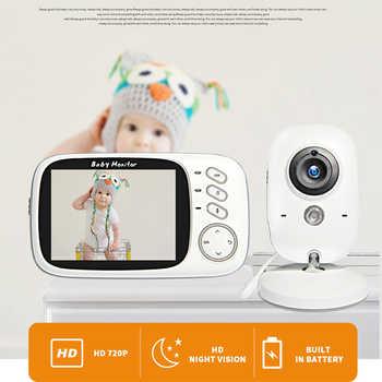 Moniteur vidéo couleur sans fil pour bébé 3,2 pouces haute résolution bébé nounou caméra de sécurité vision nocturne température moniteur de sommeil
