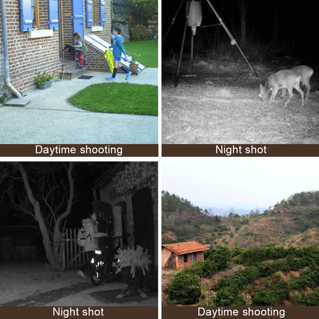 DL-100 Trail Camera Forest Camera 12MP 1080P Wildcamera Tracing Game IP66 Night Vision Hunting Camera Photo-Trap Thermal Imager 3