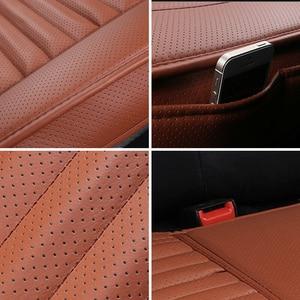 Image 5 - 1 шт. чехол для сиденья автомобиля без спинки из искусственной кожи бамбуковый уголь подушка для сиденья автомобиля Нескользящая крышка сиденья