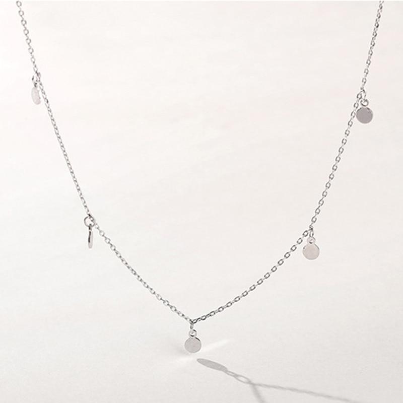 H46cbe558d41246988d1c8a76fa070e0dX INZATT Real 925 Sterling Silver Geometric Round Choker Necklace For Fashion Women Minimalist Fine Jewelry Cute Accessories 2019