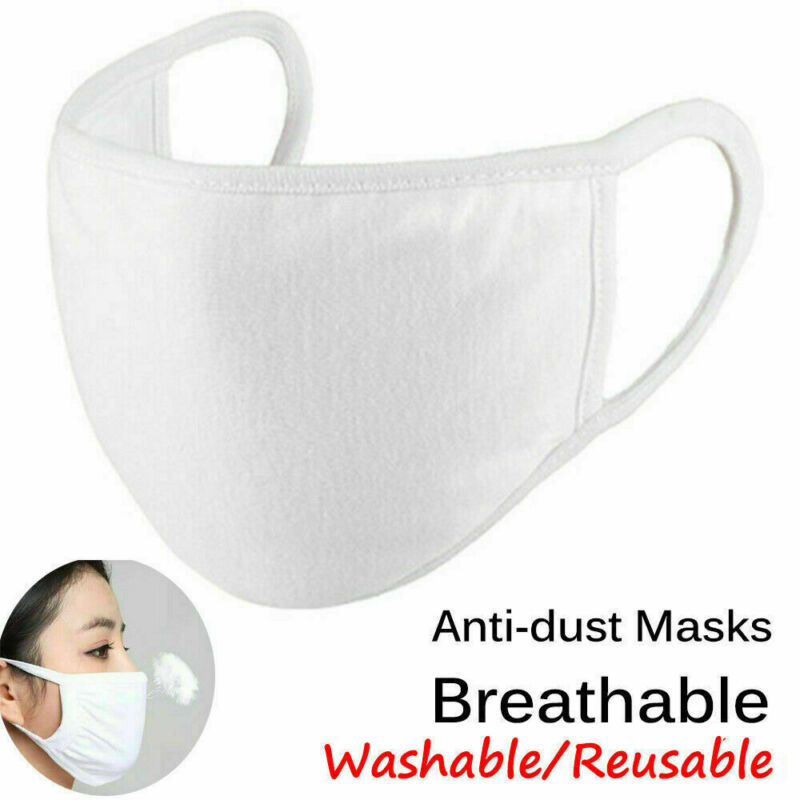 100% Cotton Masks Adult Kids Universal Solid Outdoor Travel Baby Protection Dust Masks
