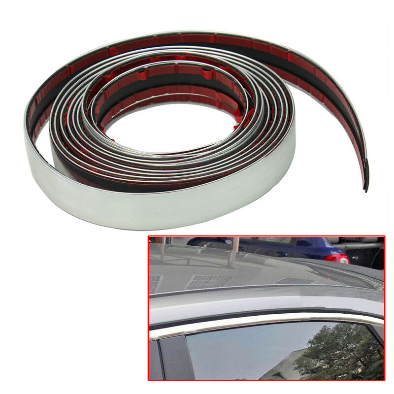 """22mm/0.87"""" Car Styling Strip 1pc Strip 3 Meter Silver Chrome Decoration