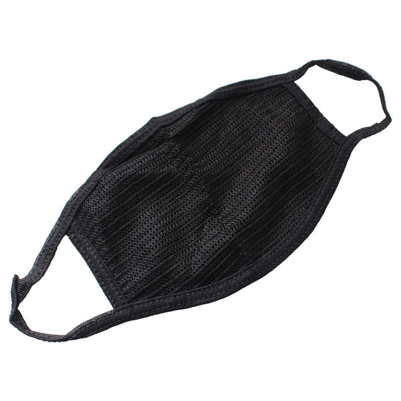 1PC Unisex Mouth Mask Solid Black Full Face Cover Fashion Simplicity Breathable Warm Cotton Black Masks Wholesale