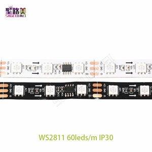 Image 5 - DC12V 5M WS2811 LED פיקסל רצועת אור Rgb מלא צבע 5050 Led רצועת סרט גמיש מיעון דיגיטלי LED קלטת 1 Ic בקרת 3