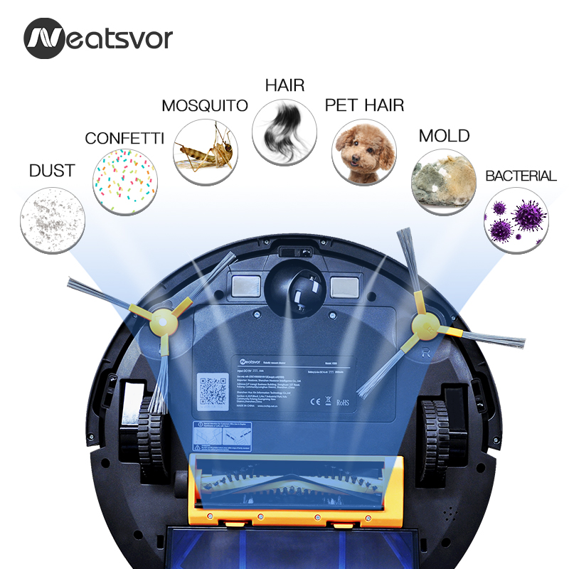 NEATSVOR X500 1800PA Robot Vacuum Cleaner for Wet or Dry Mopping with Map Navigation and Anti Collision Feature 3