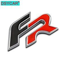 DSYCAR 1Pcs 3D Metall FR Auto Seite Fender Hinten Stamm Emblem Abzeichen Aufkleber Aufkleber für SITZ BMW Audi Honda auto Jeep Nissan VW Ford