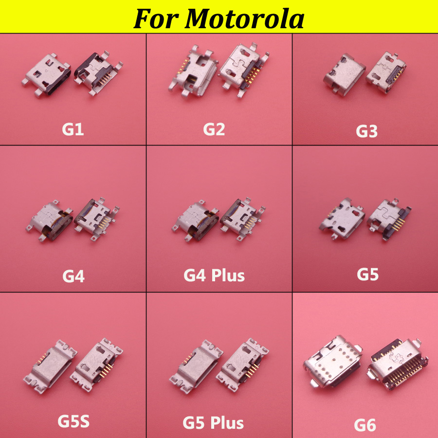 50pcs Micro Usb Connector Port Jack Sockect For Motorola Moto G2 G3 G4 G5 G5S G5Plus G6 XT1686 XT1681 XT1683 XT1063 XT1068